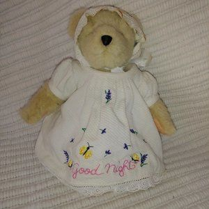 Vtg Muffy VanderBear Teddy Bear Good Night *as is